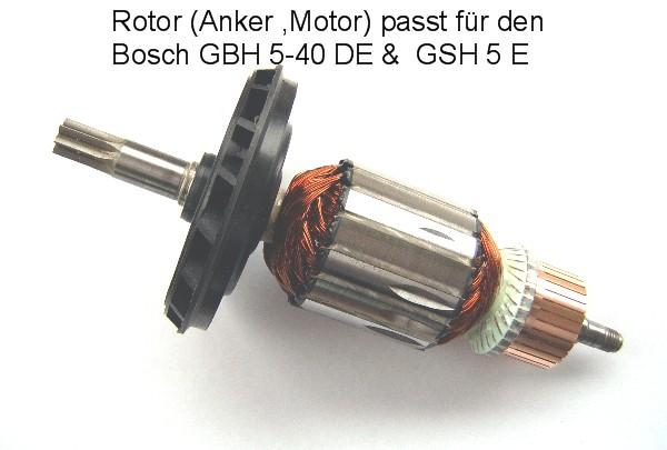 GBH 5-40 DE Anker Rotor Motor Bosch